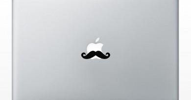 Mustache Macbook Decal