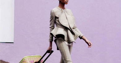 lavender wall suit luggage