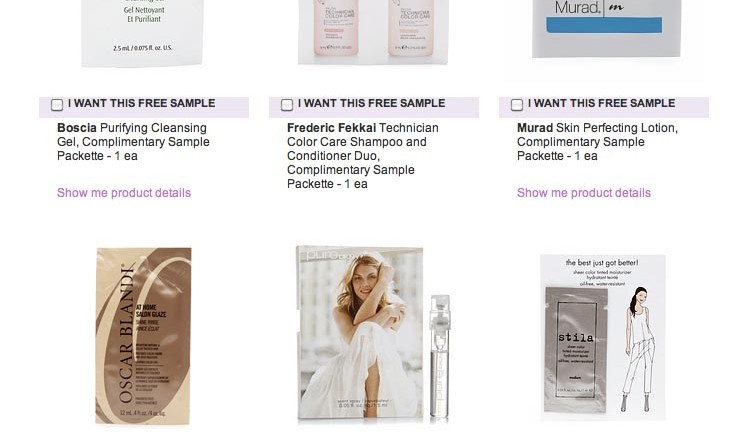Beauty com Free Samples