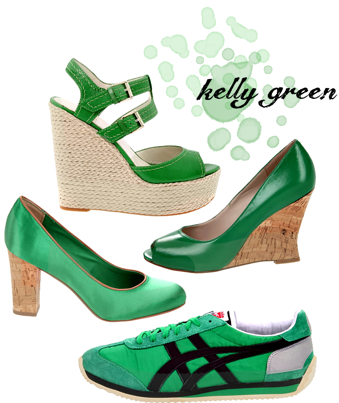 Gorgeous Heels to the Tune of Kelly Green Nine West Blanca Wedges 4997
