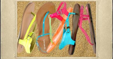 Sandals under $10 - A Pop of Neon!