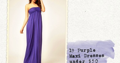 19 purple maxi dresses under fifty bucks! (Perfect for bridesmaids!)