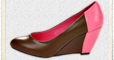 Lumiani Natalia Wedges in brown & neon pink