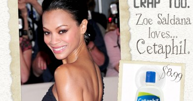 Zoe Saldana Loves Cetaphil