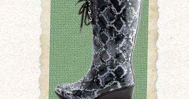 wedge-rain-boot-python