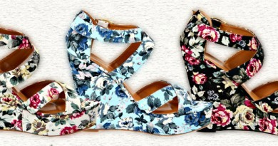 "Miss Me ""Heart"" Floral Wedges"