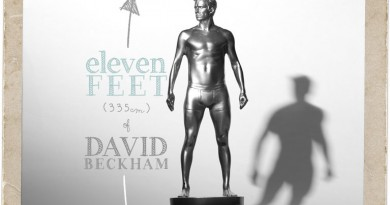 Eleven Foot Status of David Beckham in his underwear for H&M