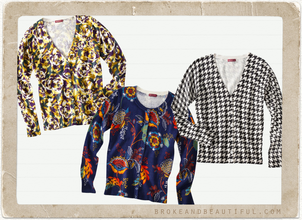 Printed Sweaters & Cardigans Under $25