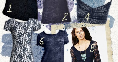 Navy Blue Lace under $50