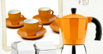 Orange and White Espresso Accessories