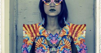 "Sabine Ducasse & ""Melting Pot"" - avant garde, high fashion made with Perler beads (like when you were a kid!)"