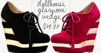 Monday Wedgie: Dollhouse Glamour Wedge