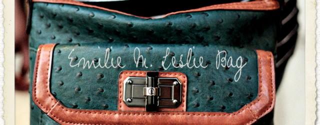 """Emilie M """"Leslie"""" Ostrich Crossbody Bag"""