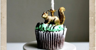 Party Animal Cupcake Candle
