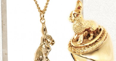 Hare Necklace & Ring by And Mary