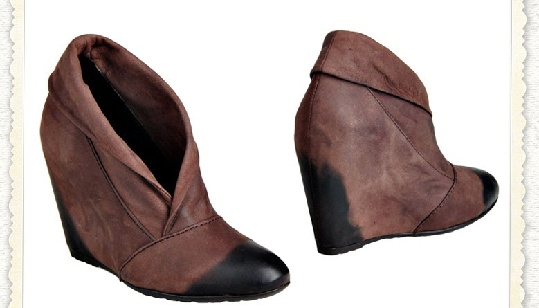 Cafe'Noir Wedge Booties is Broke & Beautiful's Monday Wedgie