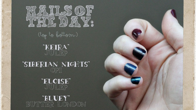 Nails of the Day: Jewel Tone Gradient