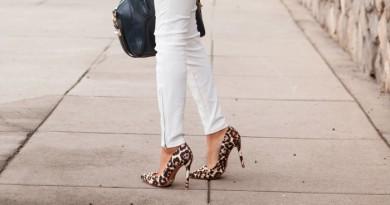 White & Leopard Print