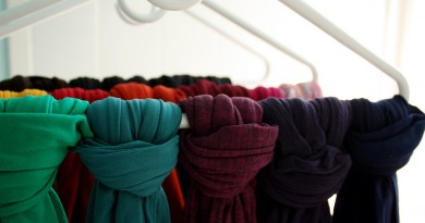Clever way to store your tights & scarves
