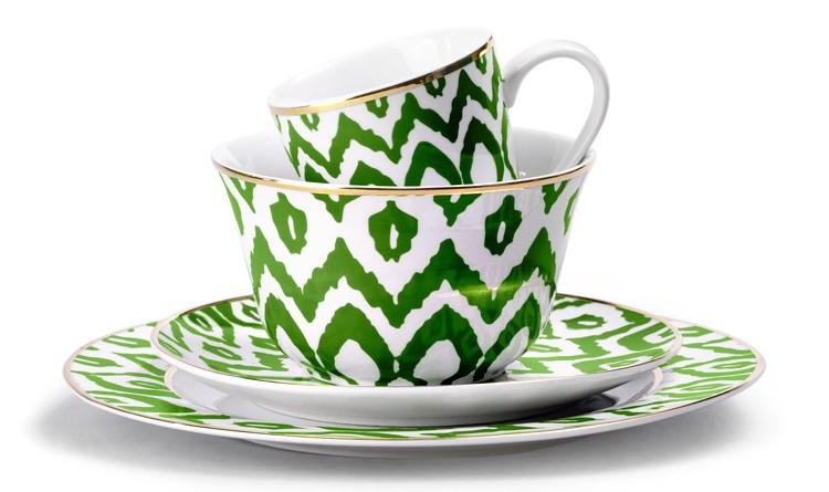 C Wonder Green Ikat DIning Set