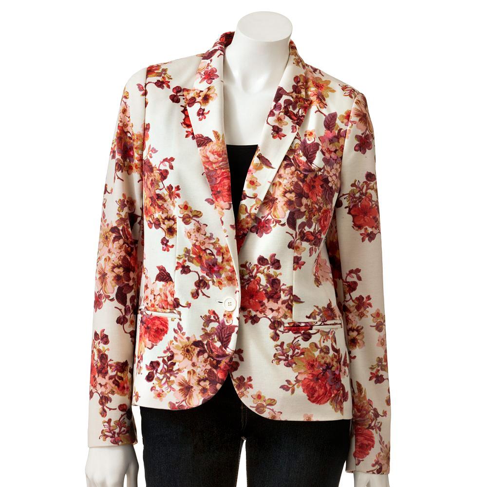 Printed Blazers: Vintage Floral Jacket