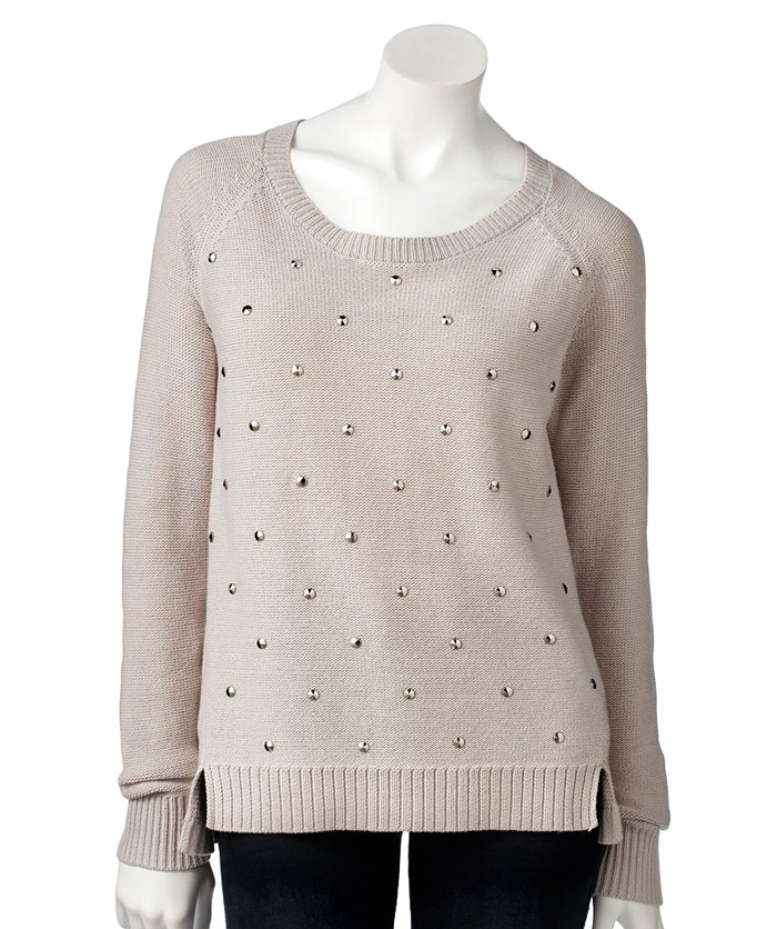 Studded Knit Sweater