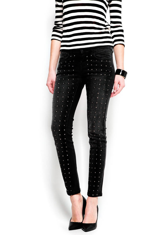 Studded Slim Pants