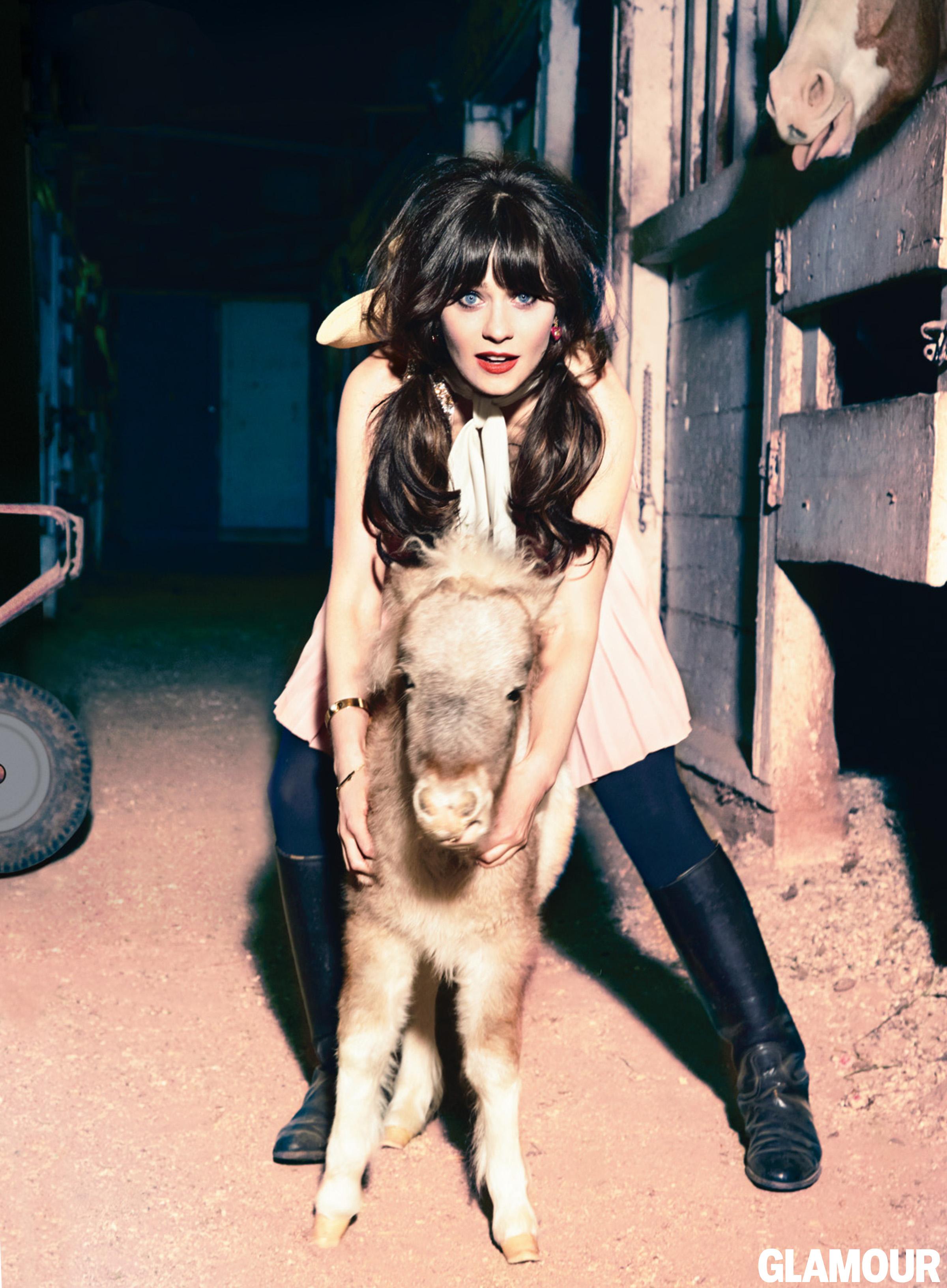 Zooey Deschanel in Glamour Magazine