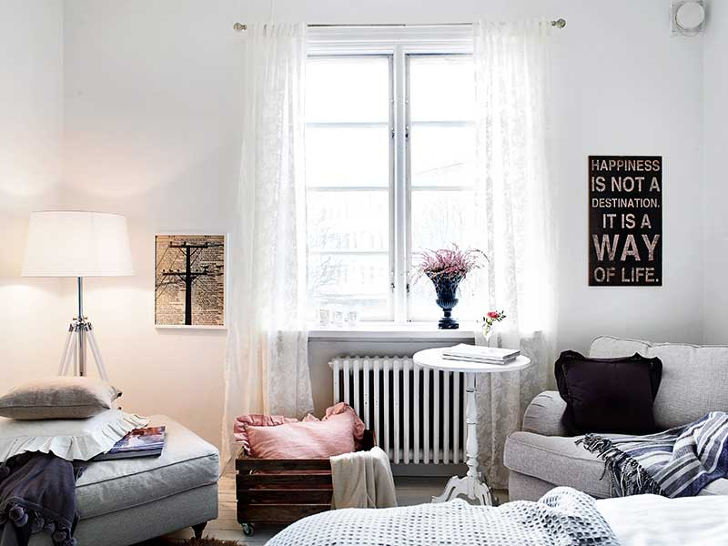 small space chandelier bedroom 1