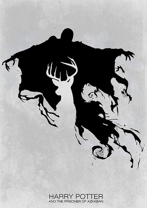 Dementor and Stag poster - Harry Potter
