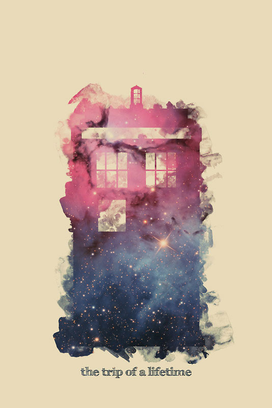 Trip of a Lifetime (Tardis Poster) by Lechisho