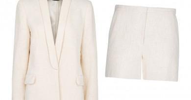 Mango-Boucle-Tuxedo-Short-Suit