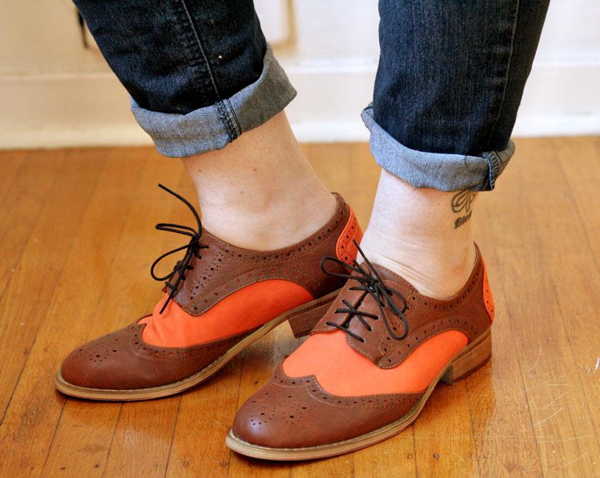 Marshalls Orange Oxfords
