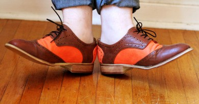 Orange and Brown Leather Oxfords from Marshalls