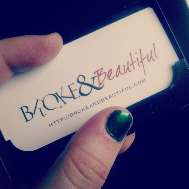 Broke & Beautiful business card