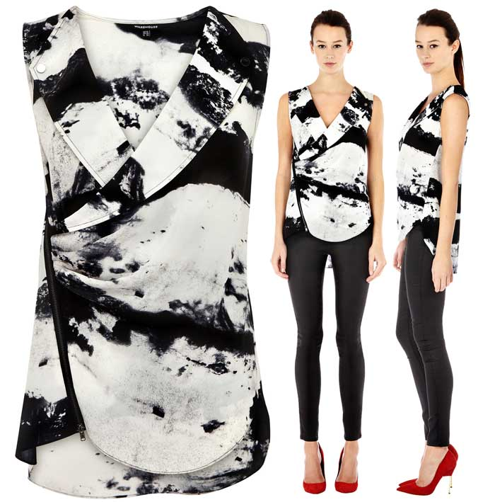 Motorcycle Blouse from Warehouse