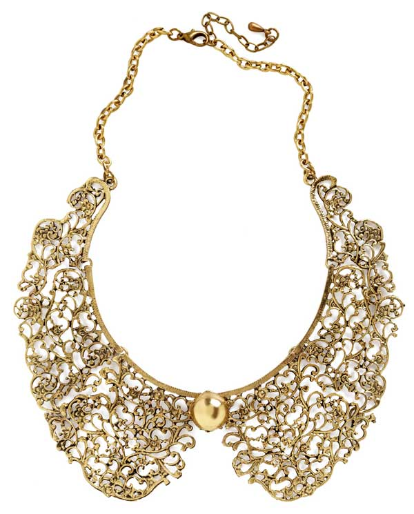 Ornate Fate Peter Pan Collar Necklace