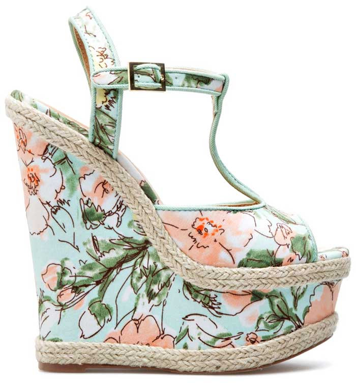 Rosalee Floral Wedge from Shoedazzle