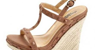 strappy jute wedge espadrille with studs