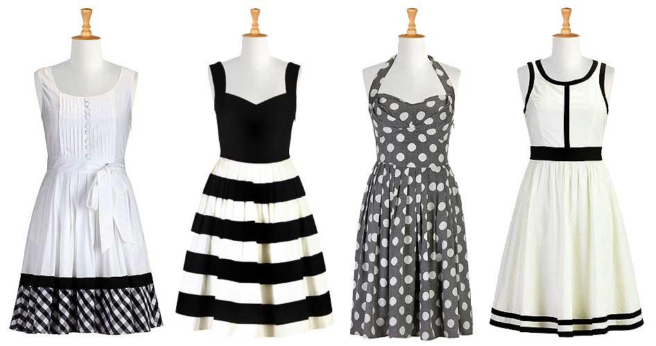 eShakti Grayscale Dresses
