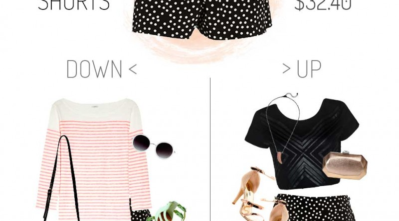 Polka Dot Tap Shorts Dressed up and Down on a budget