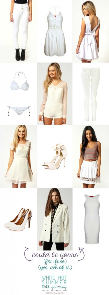 Boohoo.com White Out Giveaway