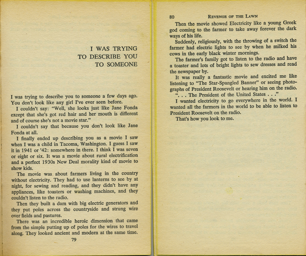Revenge of the Lawn by Brautigan