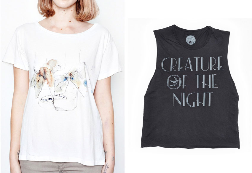 Pigeon Toe T-Shirt and Creature Of The Night Muscle Tee