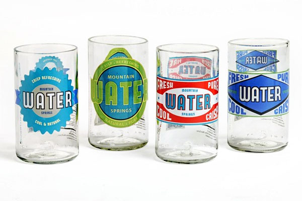 Upcycled Water Glasses