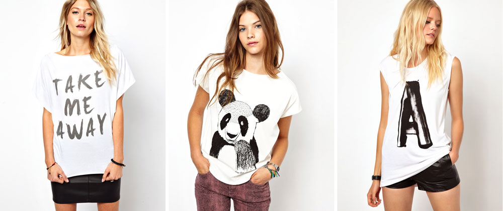 White Graphic T-Shirts from ASOS