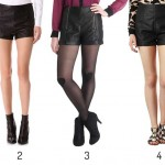 Seasonal Transition: Black (Faux) Leather Shorts