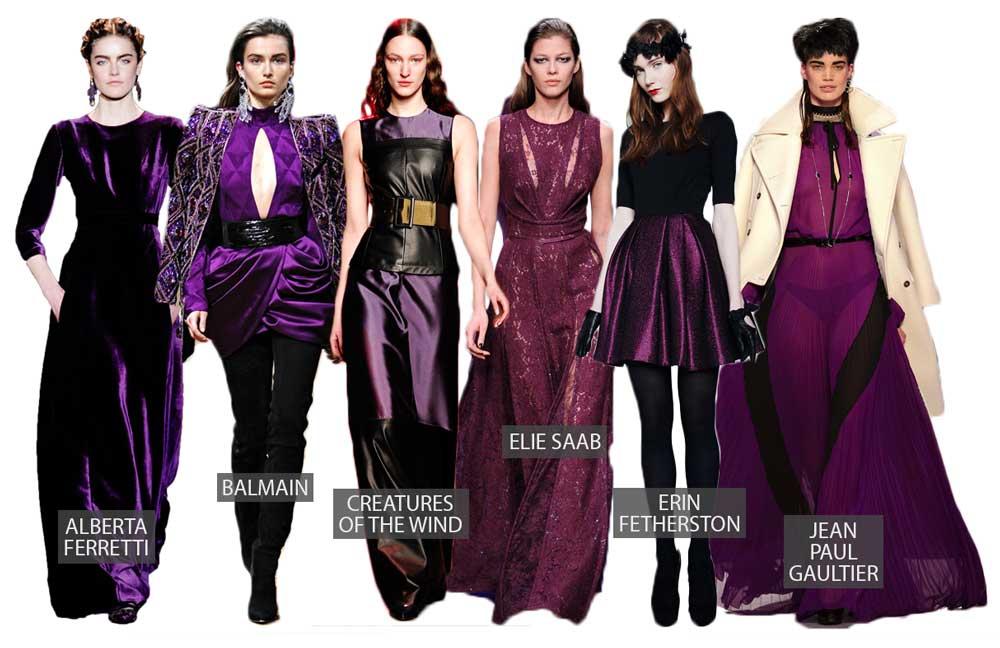Violet & Purple on Fall 2013 Fashion Runways