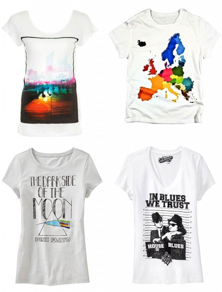 White Graphic T-Shirts