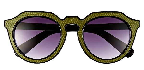 Zipster Sunglasses in Green by A.J. Morgan